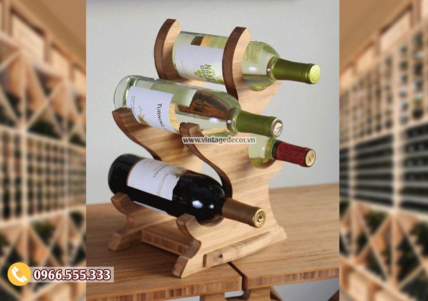 Mẫu kệ rượu đặt bàn phong cách độc đáo hiện đại TBR138