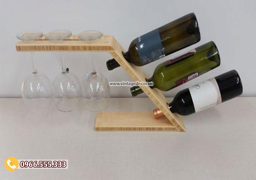 Mẫu kệ rượu trưng bài trang trí KR82