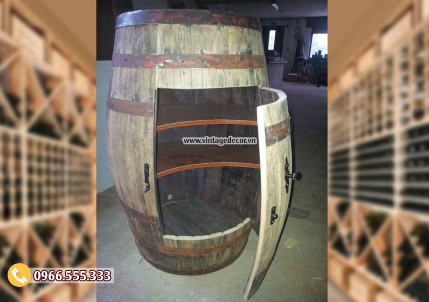 Mẫu thùng trống đặt rượu KR57