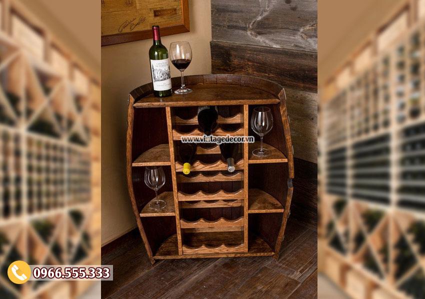 Mẫu thùng rượu đẹp KR60