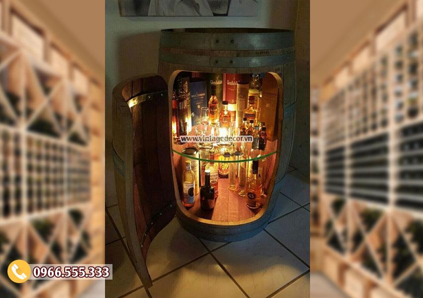 Mẫu thùng rượu đẹp KR64