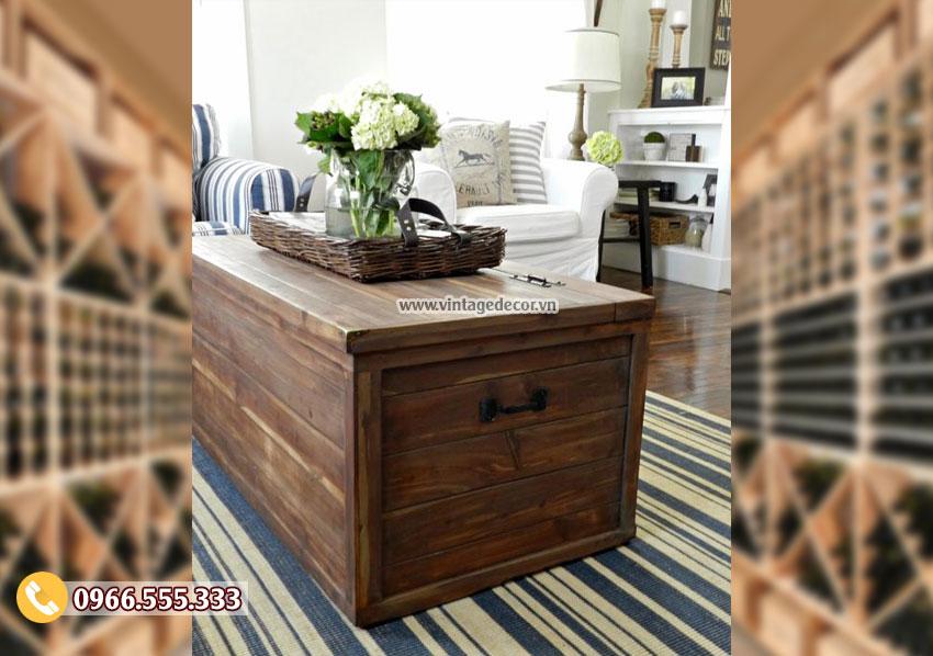 Mẫu rương gỗ để bàn phong cách RG41