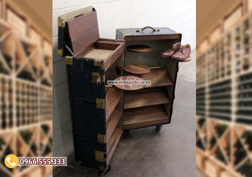 Mẫu rương gỗ đa năng phong cách cổ điển RG44