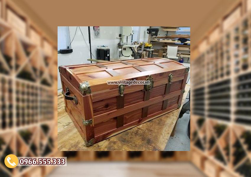 Mẫu rương gỗ để đồ tiện ích RG46