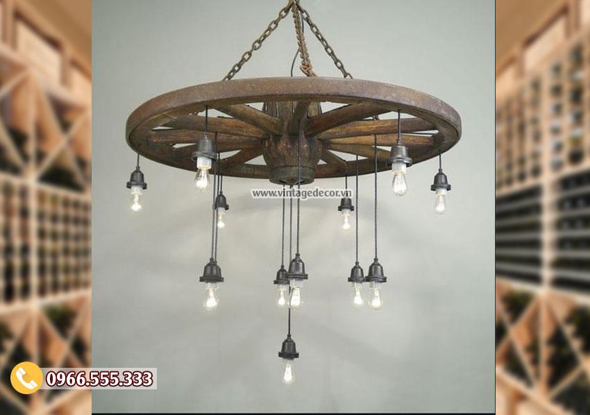 Mẫu đèn treo trần trang trí cổ điển DG009
