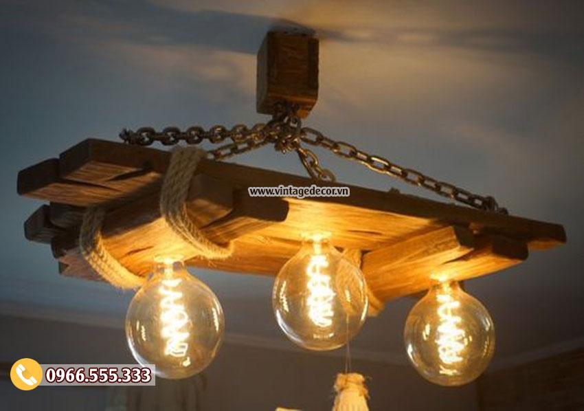 Mẫu đèn trang trí bằng gỗ DG010