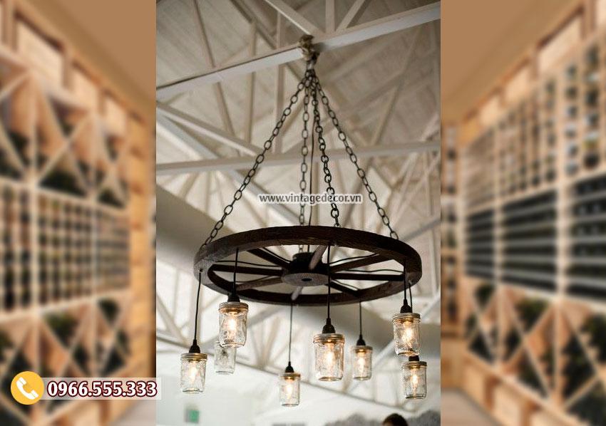 Mẫu đèn cổ điển treo trần trang trí DG012