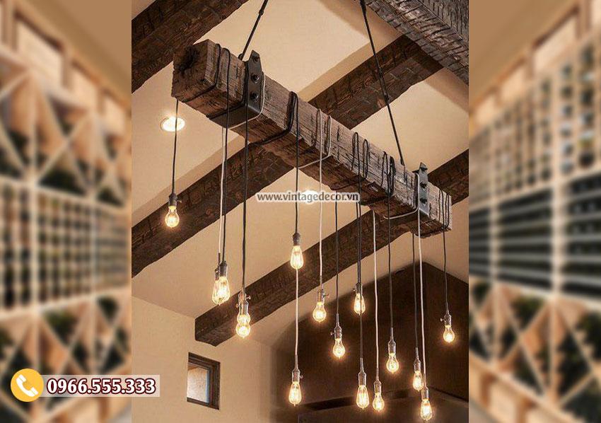 Mẫu đèn gỗtrang trí DG002