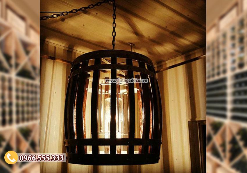 Mẫu đèn trang trí thùng trống cổ điển DG024