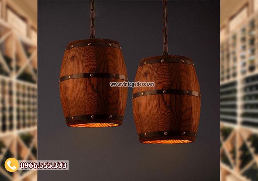 Mẫu đèn thùng trống treo tường cổ điển DG026