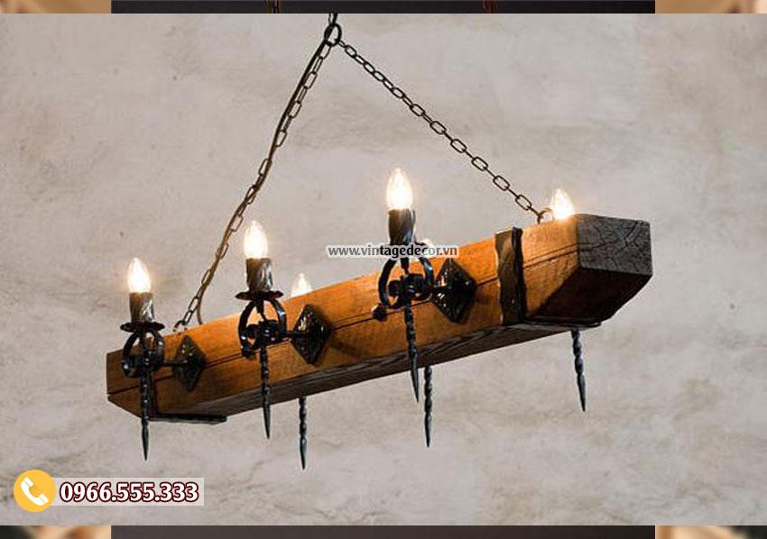 Mẫu đèn gỗ ngược thời gian DG028