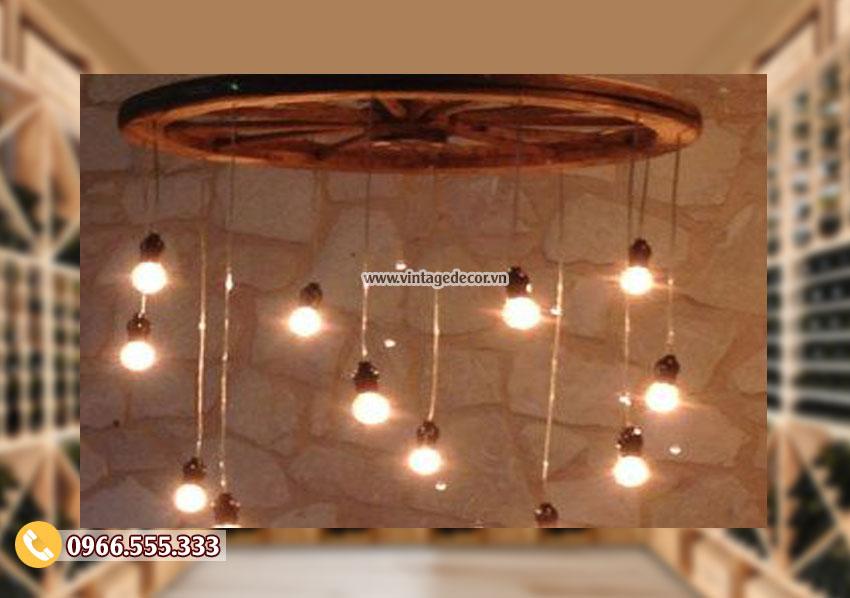 Mẫu đèn bằng gỗ trang trí DG027