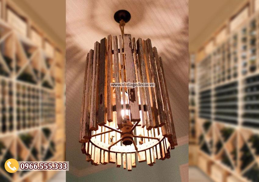 Mẫu đèn thả trần bằng gỗ DG031