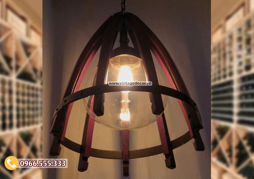 Mẫu đèn gỗ thả trần hà nội DG034