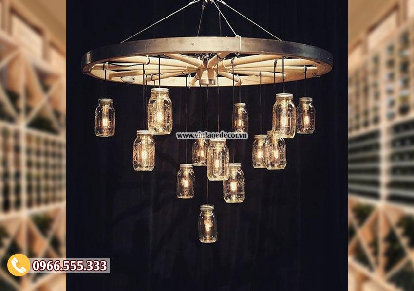 Mẫu đèn gỗ trang trí nội thất DG045