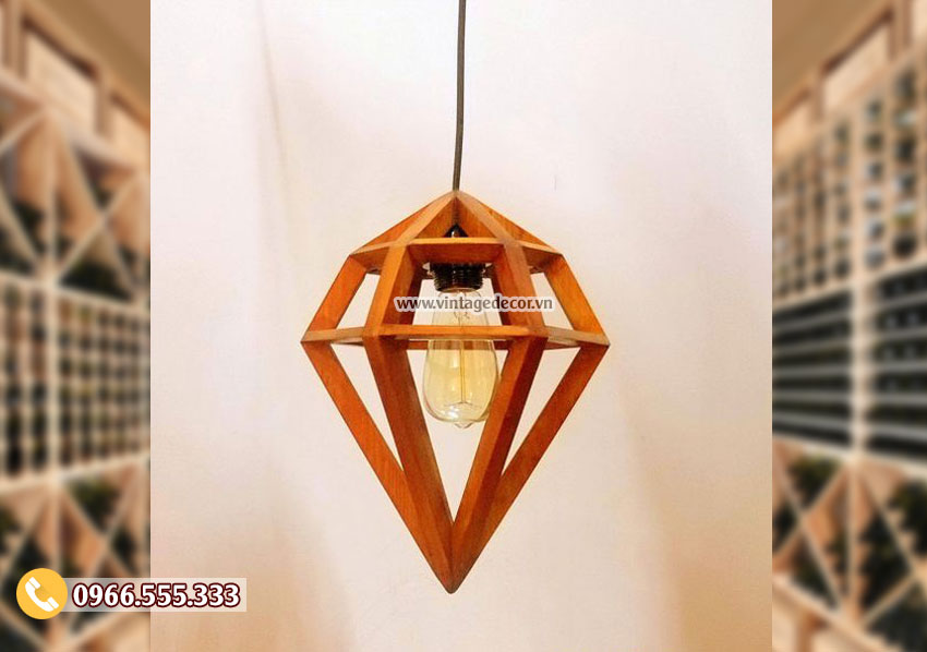 Mẫu đèn gỗthả trần đẹp DG037