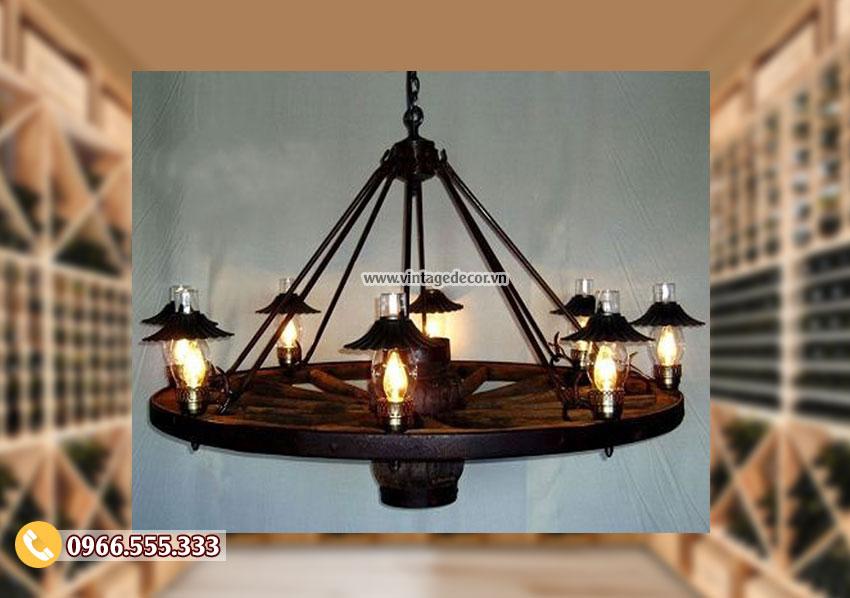 Mẫu đèn gỗ phong cách cổ điển DG004