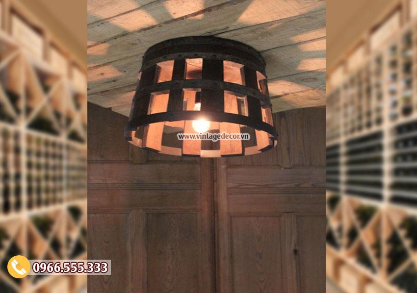 Mẫu đèn treo trần handmade bằng gỗ DG056