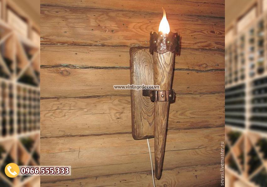 Mẫu đèn gỗ trang trí DG057