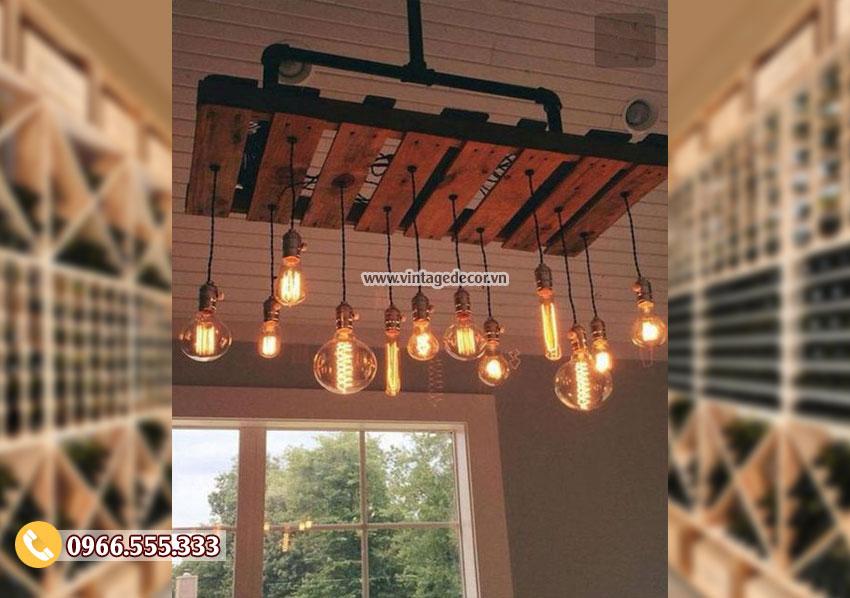 Mẫu đèn gỗ trang trí quán cafe DG065