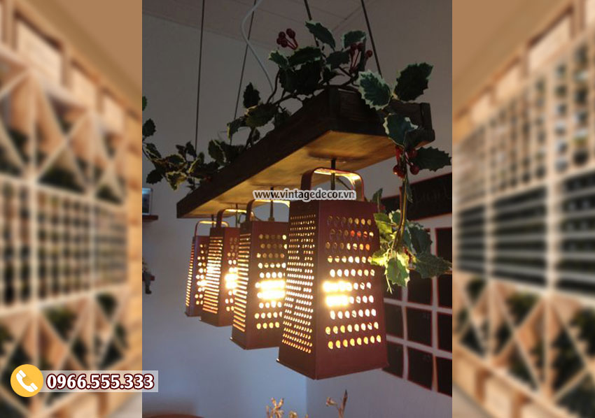 Mẫu đèn gỗ trang trí phòng DG066