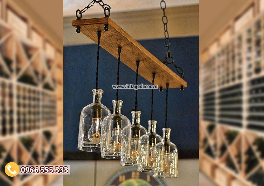 Mẫu đèn gỗtrang trí phòng khách DG070