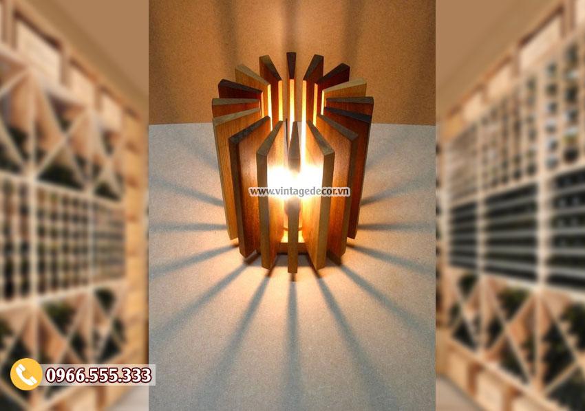 Mẫu đèn gỗ đặt bàn đẹp phong cách hiện đại DG075