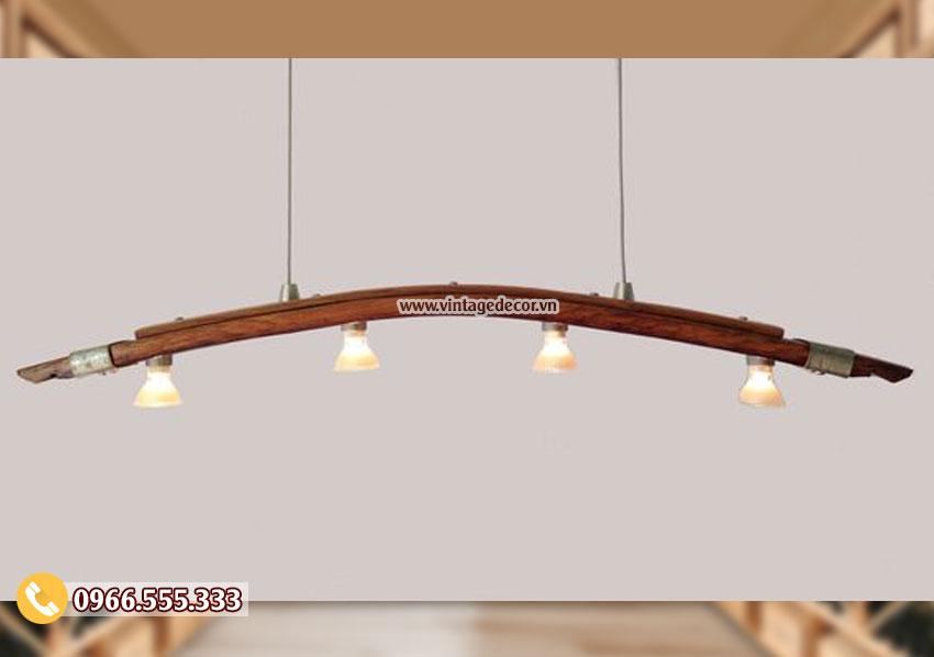 Mẫu đèn gỗ trang trí cổ điển DG078