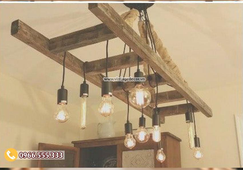 Mẫu đèn thả trần bằng gỗ DG082
