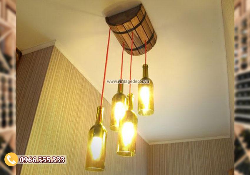 Mẫu đèn trang trí trần nhà bằng gỗ DG007