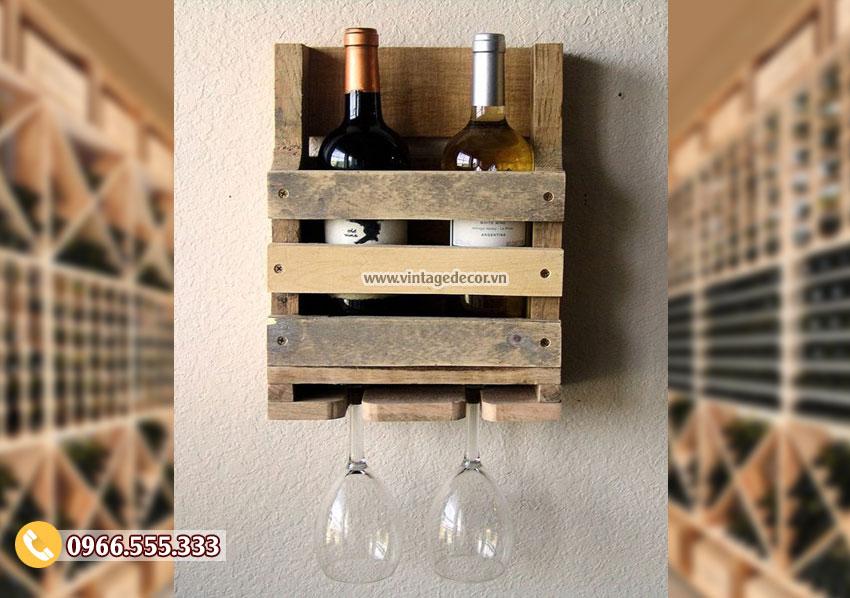 Mẫu kệ tủ rượu vanggỗ TBR141