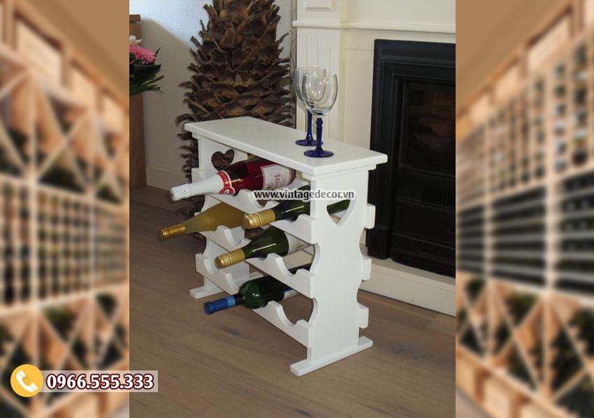 Mẫu kệ tủ rượuđặt phòng khách đẹp TBR143