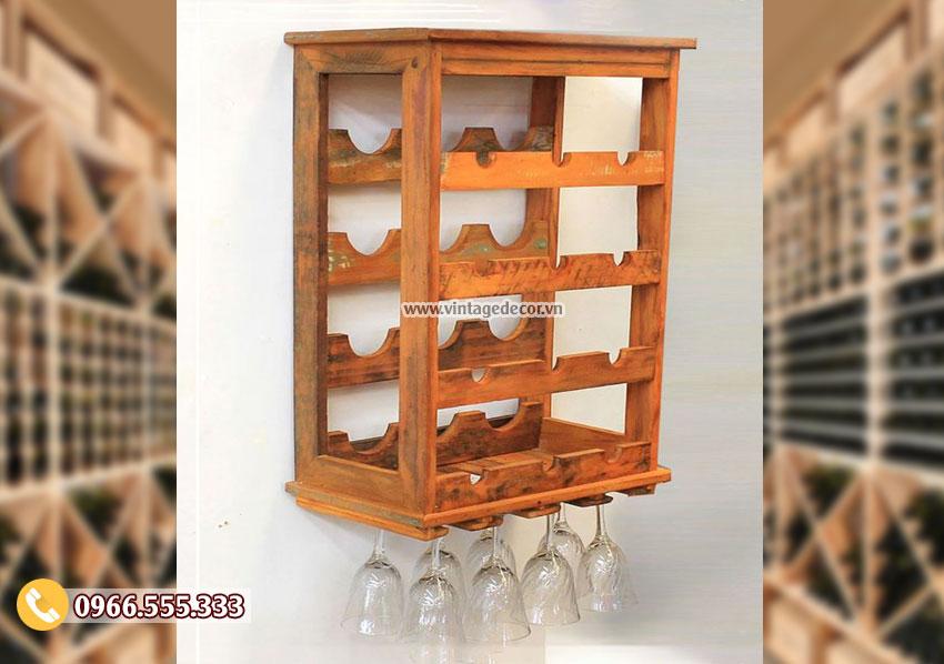 Mẫu kệ tủ rượu treo tường TBR145