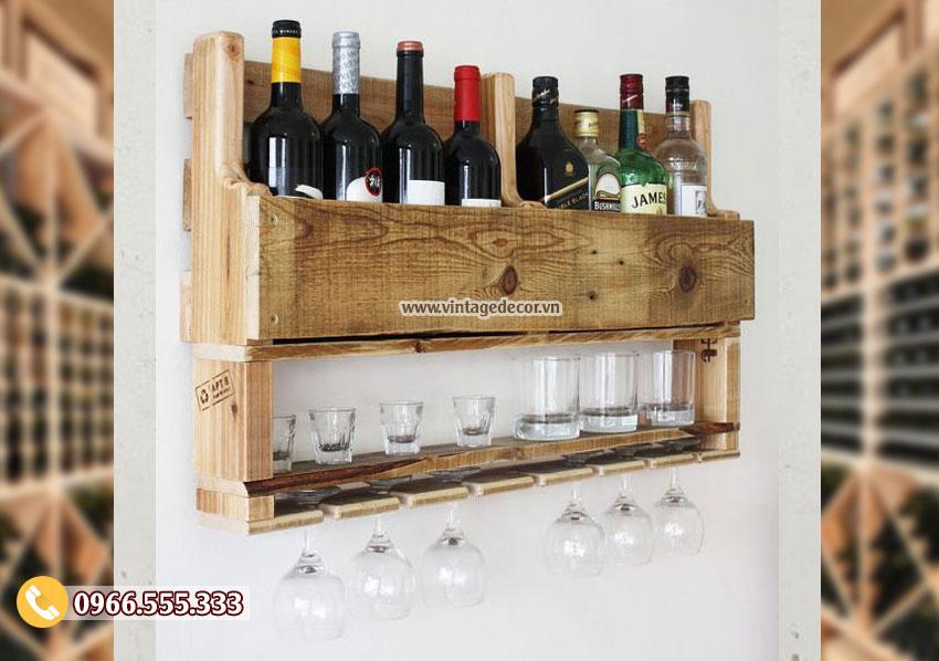 Mẫu kệ tủ rượu vang chắc chắn TBR167