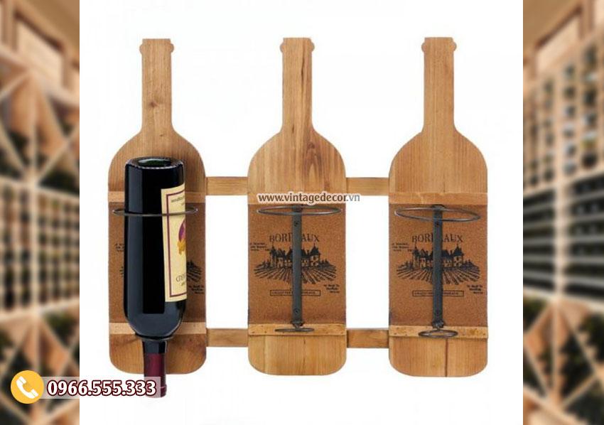 Mẫu kệ rượu vang sáng tạo đẹp TBR166