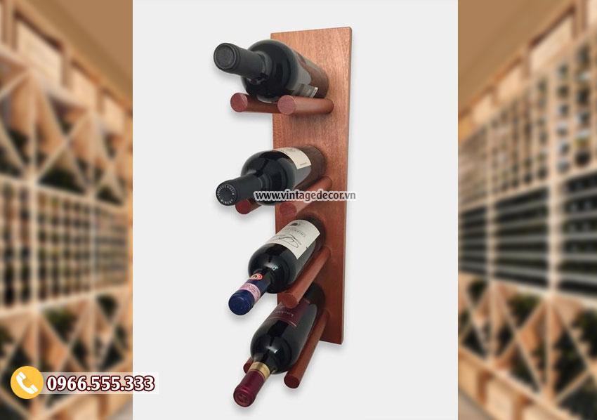 Mẫu kệ rượu vang trang trí TBR153