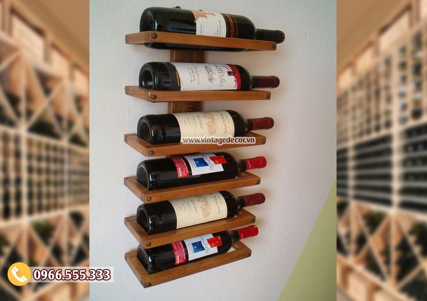 Mẫu kệ rượu vang phong cách hiện đại TBR162