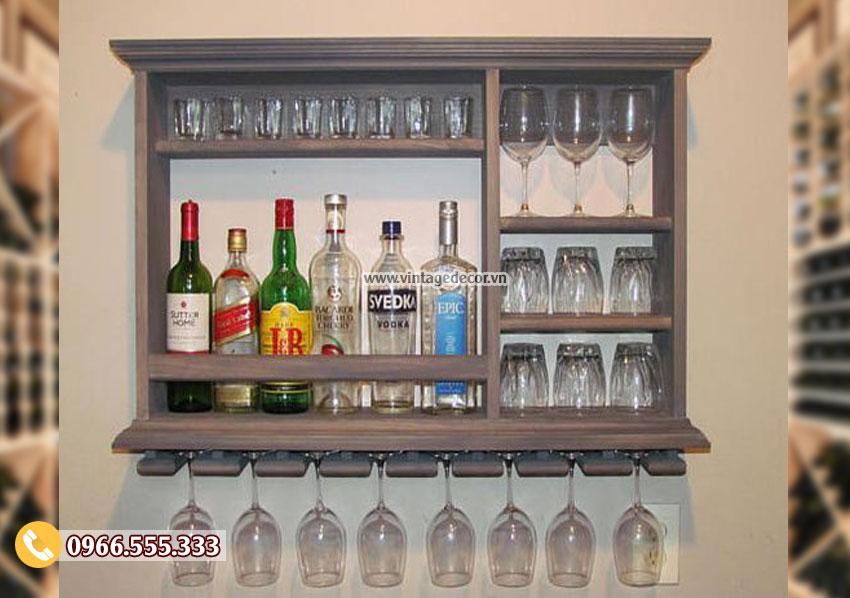 Mẫu kệ tủ rượu vang đẹp TBR163