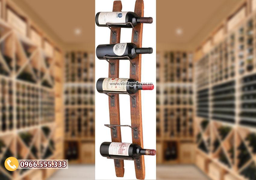 Mẫu kệ rượu vang đơn giản cổ điển TBR155