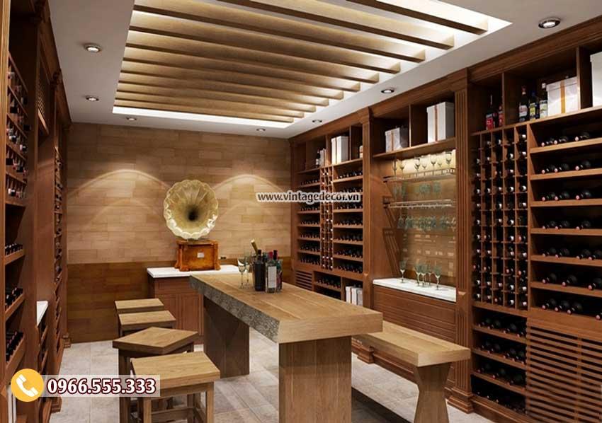 Mẫu hầm lưu trữ rượu vang phong cách cổ điển HR98