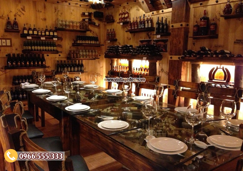 Tổng hợp 10 thiết kế nhà hàng hầm rượu 2019