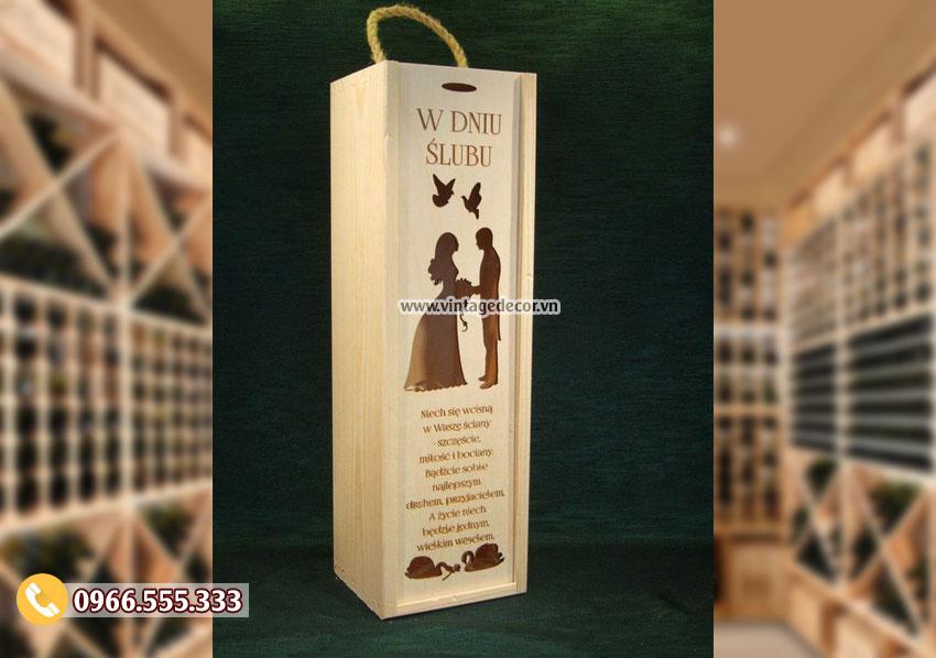 Mẫu hộp đựng rượu quà tặng HDR16