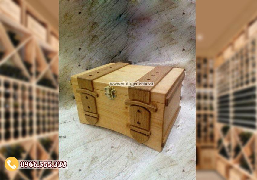 Mẫu hộp đựng rượu cổ điển HDR15