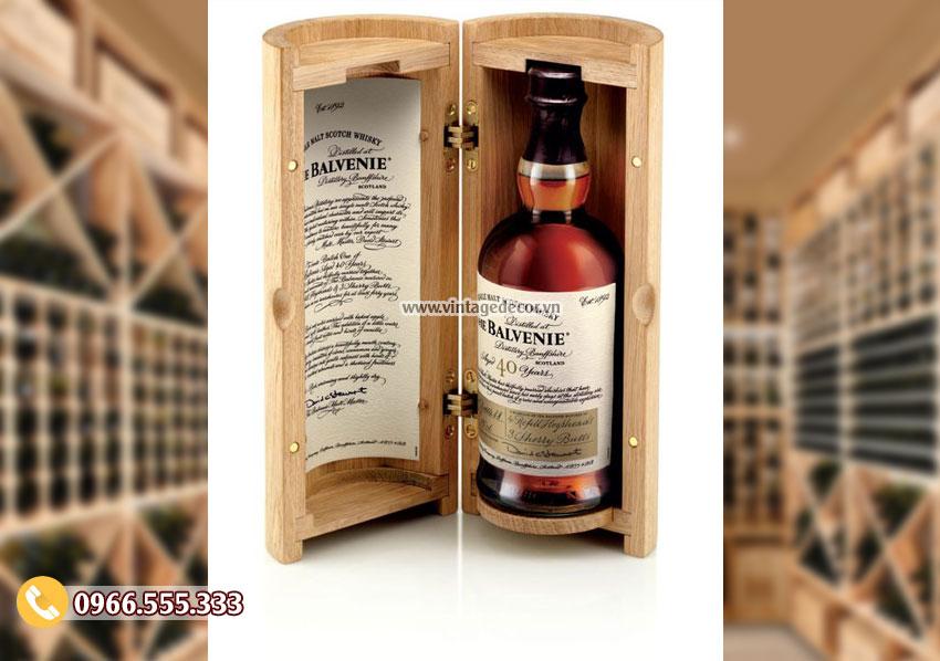Mẫu hộp gỗ đựng rượu mini HDR20