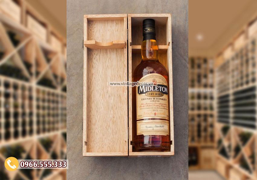 Mẫu hộp đựng rượu gỗ mini HDR22