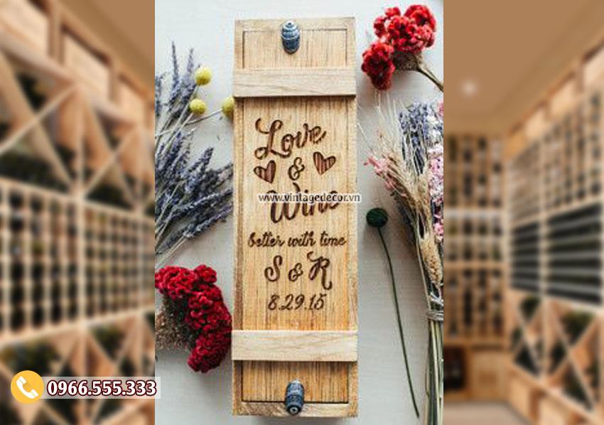 Mẫu hộp gỗ đựng rượu đẹp HDR29