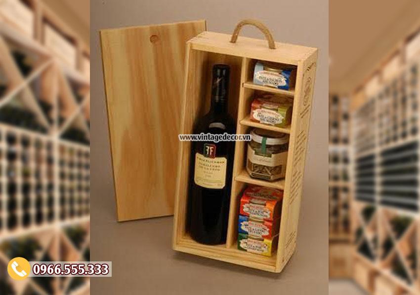 Mẫu hộp gỗ đựng rượu hà nội HDR30
