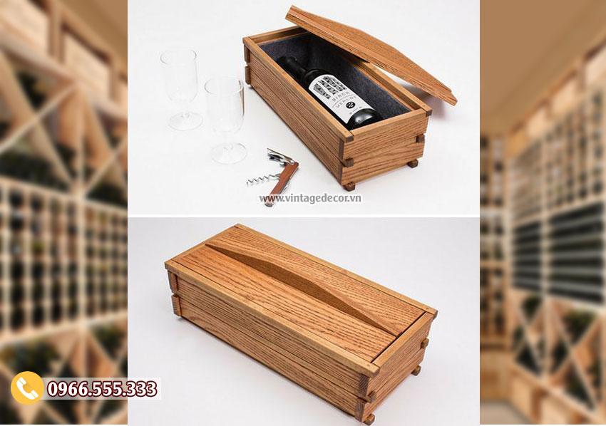 Mẫu hộp đựng rượumini HDR36