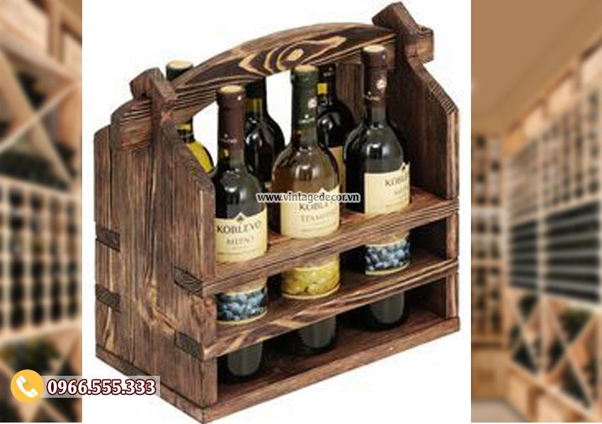 Mẫu hộp gỗ đựng rượuHDR37