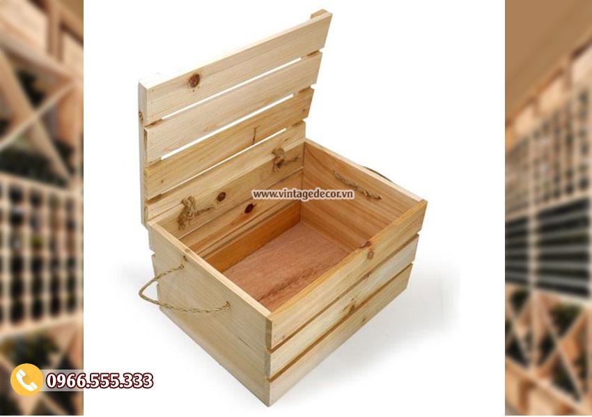Mẫu hộp gỗ thông đơn giản HDR47
